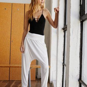 Women's White Echo Harem Pant By Fp Move